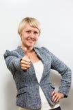 Thumb up. Business woman Stock Photos