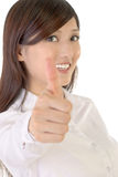 Thumb up businesswoman Stock Photography