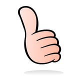 Thumb up cartoon style Royalty Free Stock Photography