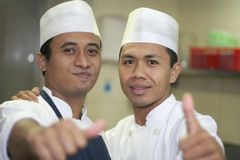 Thumb up chef Stock Photo