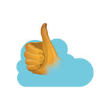 Thumb up and cloud computing design Royalty Free Stock Photos