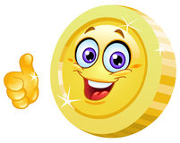 Thumb up coin Stock Images