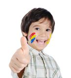 Thumb up, colors up! Stock Photos