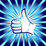 Thumb up. Comic book explosion. Royalty Free Stock Image