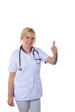 Thumb up doctor Stock Images