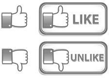 Thumb up and down Royalty Free Stock Photos