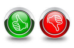 Thumb up and down buttons Royalty Free Stock Image