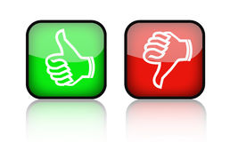Thumb Up Down Buttons. Illustration of facebook thumb up and thumb down buttons Royalty Free Stock Images