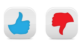 Thumb Up And Down Buttons. Simple icon thumb up and thumb down Stock Photography