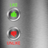 Thumb up and down metalic button Royalty Free Stock Photo