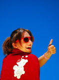 Thumb up for Dreamstime Stock Images