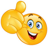 Thumb up emoticon Stock Photos