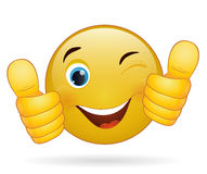 Thumb up emoticon Stock Photo