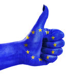 Thumb up for European Union Royalty Free Stock Photography