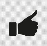 Thumb up gesture - black vector icon. Thumb up gesture - vector icon, design icon or logos for business, web vector illustration