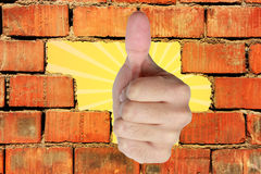Thumb Up Gesture Stock Image