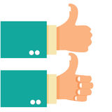 Thumb Up Gesture Hand Stock Photos