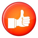 Thumb up gesture icon, flat style Royalty Free Stock Image