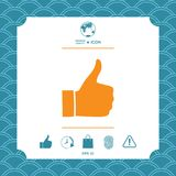 Thumb up gesture - icon Stock Photo