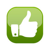 Thumb up gesture icon vector Stock Photos