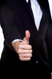 Thumb up gesture OK Stock Images