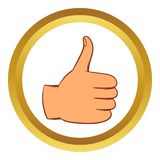 Thumb up gesture vector icon, cartoon style Stock Photos