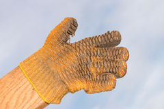 Thumb up glove Royalty Free Stock Photography