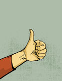 Thumb up hand. Hand, thumbs up gesture illustration Stock Photography