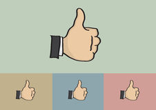 Thumb Up Hand Gesture Cartoon Vector Stock Photo