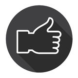 Thumb Up Hand Gesture Like Icon Royalty Free Stock Images