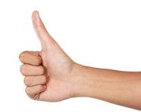 Thumb up, hand gesture for okay/ agreeing Royalty Free Stock Images