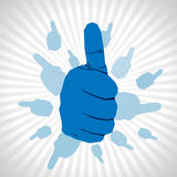 Thumb up hand Stock Photos