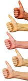 Thumb up Hand sign Stock Photography