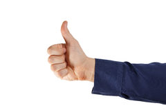 Thumb up. Hand sign isolated Royalty Free Stock Photo