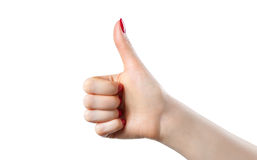 Thumb up handsign Royalty Free Stock Photo