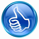 Thumb up icon blue Royalty Free Stock Image