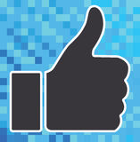 Thumb up icon on digital background. The concept of thumb up icon on digital or business background royalty free illustration