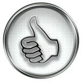 Thumb up icon grey Stock Images
