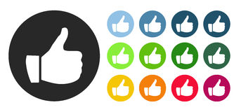 Thumb up icon Stock Image