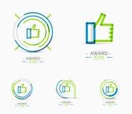 Thumb up icon, logo design Stock Photos
