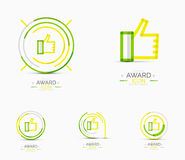 Thumb up icon, logo design Royalty Free Stock Images