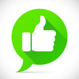 Thumb Up Icon. Round flat icon with thumb up symbol Stock Photos