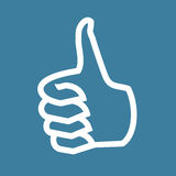 Thumb up icon vector illustration