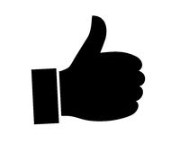Thumb Up icon vector illustration Royalty Free Stock Images