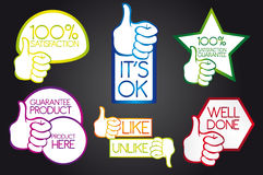 Thumb up icons Royalty Free Stock Images