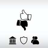 Thumb up icons, vector illustration. Flat design style Stock Photography