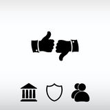 Thumb up icons, vector illustration. Flat design style Royalty Free Stock Photography