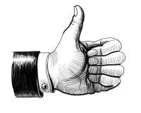 Thumb up stock illustration