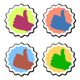 Thumb up labels Stock Photo