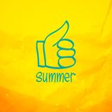 Thumb up and like concept symbol Royalty Free Stock Photo